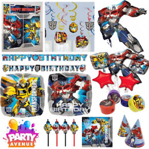 Transformers Party Tableware Decorations Balloons Favours. Amscan. Brand New
