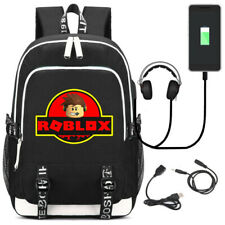 Game Roblox USB Backpack Men Travel Laptop Shoulder Knapsack Student School Bags