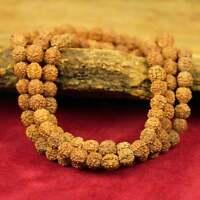 Mala feine Qualität Rudraksha Samen Buddhismus Nepal Meditation Handarbeit 7