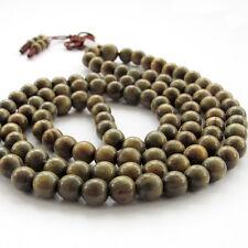 Green Sandalwood Tibet Buddhist 108 Beads Prayer Necklace Mala