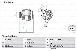 BOSCH Alternator 14V For HONDA Accord VI 0986041990