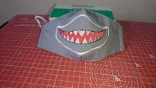 Handmade Embroidered Shark  Reusable adult Face Mask