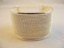 Silver Copper Alloy Cuff Bracelet 1.50 Inches W Bullock&Dorchester Collection
