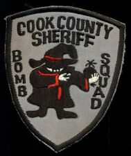 Cook County Sheriff Bomb Squad Illinois Chicago Police Patch N-7
