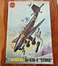 "RARE AIRFIX A18002 1/24 scale Junkers Ju-87B-2 ""STUKA"" Plastic Model Kit"