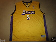 Robert Horry #5 Los Angeles Lakers NBA Champion Jersey 52 2XL