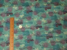 Hannah Montana Guitar Butterfly Pop Star Flannel Fabric Quilt Sew  1.25  yds