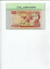 SINGAPORE MALAYSIA $10 ORCHID A/6 830245 VG # 290