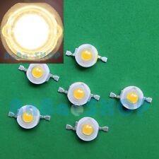 10pcs 1W Warm White 3000K High Power LED Lamp Beads Light Spotlight Bulb DIY