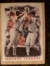 Topps 86 New York Yankees Team Leaders 406 nm - mint