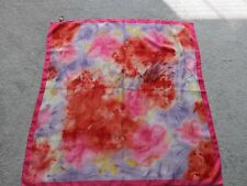 tie rack scarf 100% polyester pink and red colors scarf for suits -