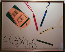 "Lee R Lerfald Limited Edition Serigraph ""Crayons"""