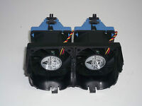 Lot of 2 Dell Poweredge 2650 Server Rear Chasis Fans with Shroud 2X176 1X514