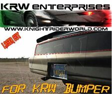 PONTIAC FIREBIRD KNIGHT RIDER KITT REAR TAIL LIGHT BLACKOUT COVER FOR KRW BUMPER