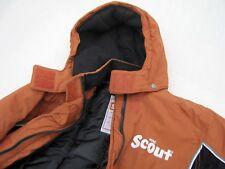 """Anorak """"Scout"""" orange gut erhalten Größe 164 Kapuze abknöpfbar Schneefang"""