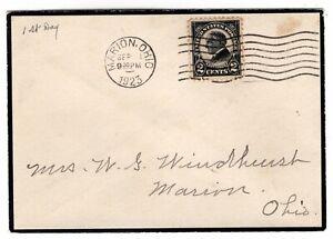 #610 Warren G. Harding 1st Linn  Cover Marion OH 1923