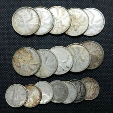 Mixed Lot of (17) Canada Silver 10 Cents & 25 Cents ($3.20 Face) | AVG CIRC