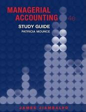 Study Guide to accompany Managerial Accounting 4e, Jiambalvo, James, Very Good B