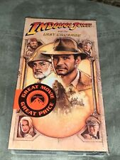 New Sealed Indiana Jones and the Last Crusade. Vhs, 1990. New Sealed. Free Ship