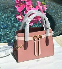 NWT Kate Spade Toujours Medium Satchel Leather Bag Tinted Rose Multi NEW $398