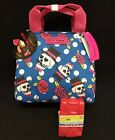 Betsey Johnson Blue Skulls Insulated Lunch Bag Tote w/ ice pack New!