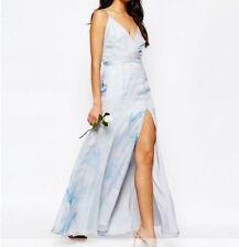 Vestiti da donna Blu Floreale Lunghezza totale