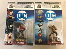 Dc Nano Metalfigs Lot of : Dc46 Aquaman, Dc57 Justice League Aquaman