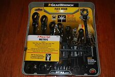 Gear Wrench 7-PC Metric Ratcheting Flex Head Wrench Set # 44006