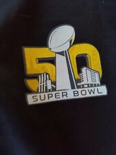 Brand New NFL Super Bowl 50 Full Zip Hooded Jacket Youth Large 14/16 Black