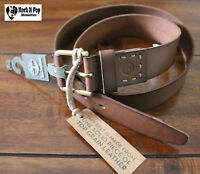 Timberland Men's Casual Leather Belt  Sizes 36 & 40 Brown B75392 MSRP 55