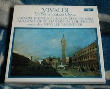 VIVALDI LA STRAVAGANZA OP. 4, DUTCH 2LP BOX ARGO ZRG 800/1 KAINE, LOVEDAY