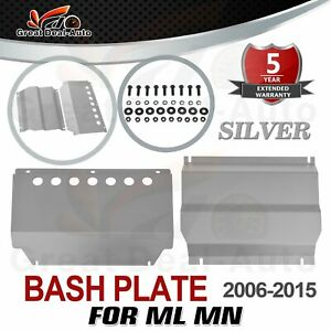 2pc Silver Bash Plate for Mitsubishi Challenger PB PC 2009-2015 Sump Guard NEW