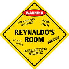 """*Aluminum* Reynaldo's Room Kids Room Door 12""""x12"""" Metal Novelty Sign"""