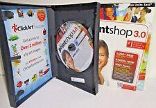PrintShop 3.0 2011 PC CD create design clip art frames photos project cards text