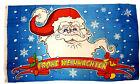 Flagge  Frohe Weihnachten Weihnachtsmannkopf  90x150 cm  Spass Fahne NEU