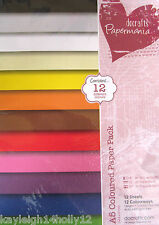 PAPERMANIA A5 COLOURED PAPER PACK~12 SHEETS~12 COLOURS~160gsm~CRAFT~ART~XMAS~