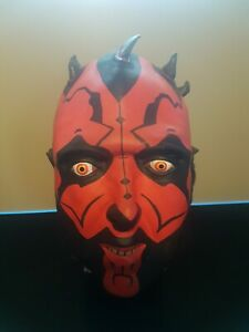 Star Wars Darth Maul Rubber Mask - Adult -  Episode 1 Phantom Menace