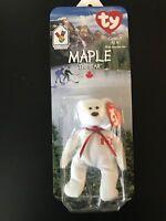 Maple the Bear Ty Teenie Beanie Baby New In Box 1996 McDonald's RARE Retired