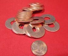"""110 Copper Round Washer,  3/8"""" Screw Size, 1"""" OD,  20 Pcs"""