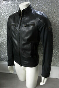 MATCHLESS MOLD Black Nappa Leather & Polyester MADE IN ITALY Jacket UK Small