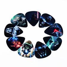 10x Celluloid Star Wars Guitar Picks Plectrums Acoustic Electric Guitar Bass