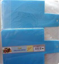 PLANCHE A DECOUPER plastique BLEU  bords repliables  anti-dérapante ref 47699