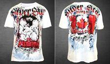 Silver Star UFC 113 Patrick Cote Walkout T-shirt (White) - Medium Size