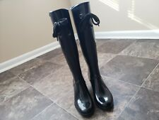 Marc Jacobs Vintage Black Rubber High Rain Boots Made in Italy Sz 5 /  35 RARE