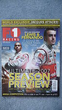F1 Racing Magazine for the Month of March 2007. Excellent Condition