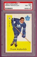 1959 Parkhurst Hockey #24 Frank Mahovlich HOF Toronto Maple Leafs PSA NM/MT 8