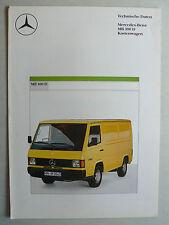 Prospekt Mercedes MB 100 D  Technische Daten  Kastenwagen, 8.1987, 4 Seiten