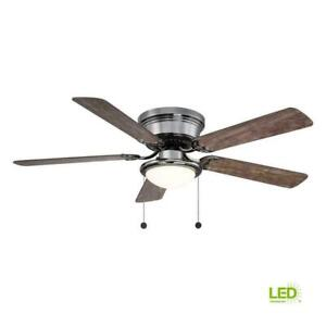Hugger Ceiling Fan Modern 56 52 in. with Light Kit 5 Blade LED Light Indoor