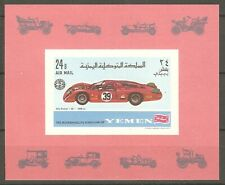 Jemen 1969 Yemen Königreich Block 147 ungez. Autorennen Alfa Romeo 33 postfrisch