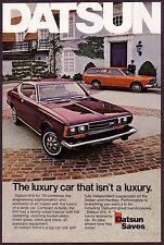 1974 Original Vintage Datsun 610 Sedan & Hardtop Car Photo vintage print ad